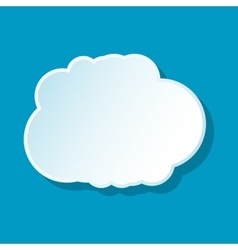 Cumulus cloud icon vector image