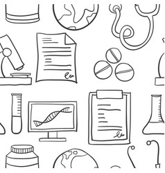 Doodle of medical element art vector