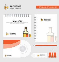drinks logo calendar template cd cover diary and vector image