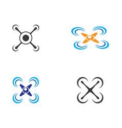 drone logo icon vector image