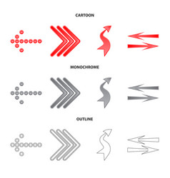 Element and arrow logo set vector