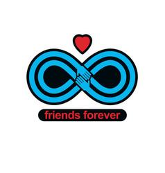 Everlasting friendship forever friends creative vector
