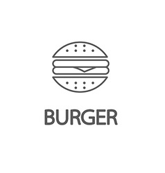 Fastfood sign for cafe or restaurant Burger or vector