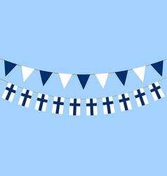 Finnish flag day vector