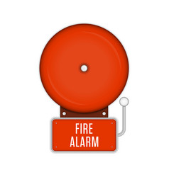 fire alarm system vector image