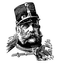Francis joseph i vintage vector