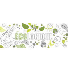 French ecologic banner vector