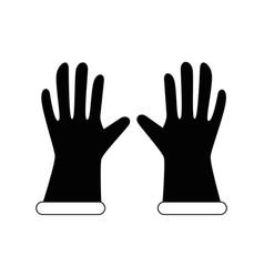 Gardening gloves equipment vector