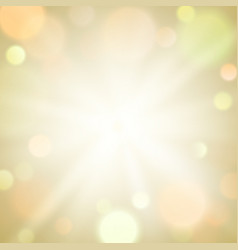 Gold burst light sparkle bokeh blur background vector