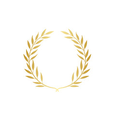Golden greek wreath laurel or olive branches vector