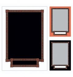 greek frame vector image