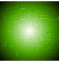 Green tech background vector image