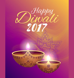Happy diwali 2017 festival vector