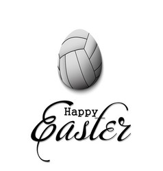 happy easter egg in form a volleyball ball vector image