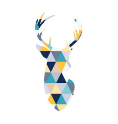 head of the scandinavian deer vector image
