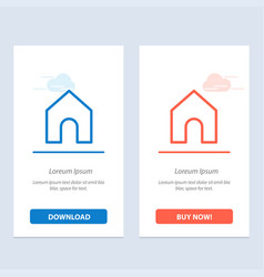 home instagram interface blue and red download vector image