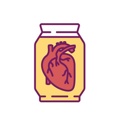 Human heart rgb color icon vector