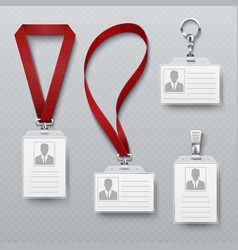 id security cards and identification badge vector image