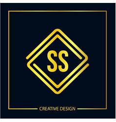 Initial letter ss logo template design vector