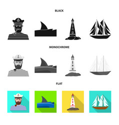 Isolated object travel and attributes logo set vector