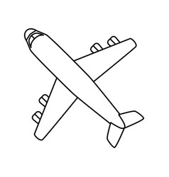 jet airplane isolated vector image