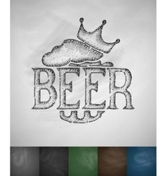 King beer icon vector