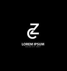 Letter z logo z design with white colors vector