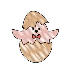 Little chicken cartoon vector