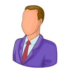 Man in suit avatar icon cartoon style vector