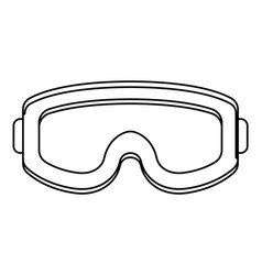 Military goggles icon black and white vector