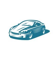 modern car abstract logo transport vehicle vector image