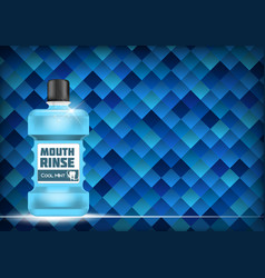 Mouth rinse design cosmetics product template fo vector