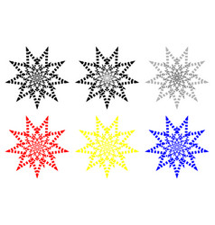 nine-pointed abstract star vector image