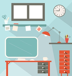 Office Flat Design vector image