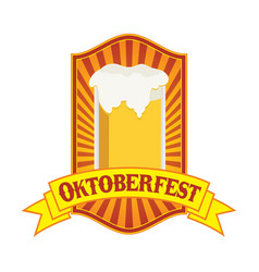 oktoberfest yellow festival emblem badge design vector image