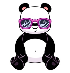 Panda in glasses vector image