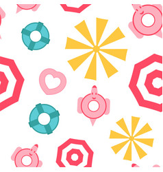 Pattern design for summer season is in flat style vector