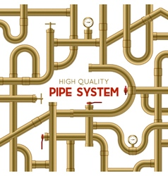 Pipe System Background vector image