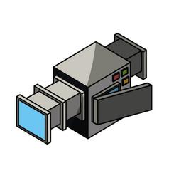 Professional camcorder 3d vector