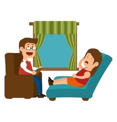psychology offfice therapist session design vector image