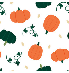 pumpkins seamless pattern background vector image