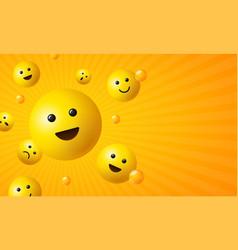 Realistic detailed 3d element emoji banner vector