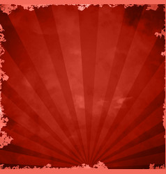 Red retro grange background vector