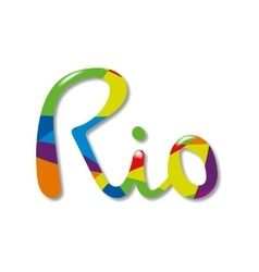 Rio poster Banners and card template vector image