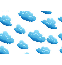 seamless pattern with blue clouds vector image
