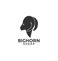 sheep logo icon design template vector image