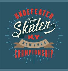 skater new york championship vector image