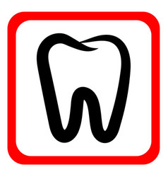 Teeth icon vector