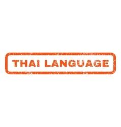 Thai Language Rubber Stamp vector