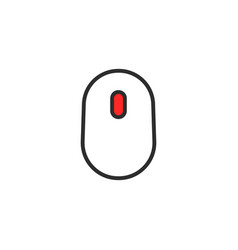Thin line simple black scroll icon vector